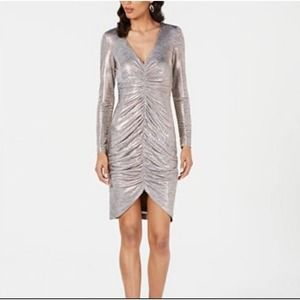 Vince Camuto Ruched Metallic Bodycon Dre